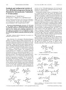 Synthesis and Antibacterial Activity of New 1b-Methylcarbapenems