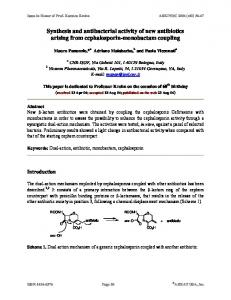 Synthesis and antibacterial activity of new antibiotics arising ... - Arkivoc