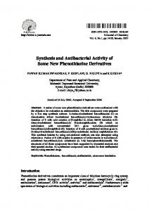 Synthesis and Antibacterial Activity of Some New ...