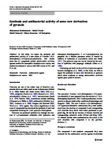Synthesis and antibacterial activity of some new derivatives of pyrazole