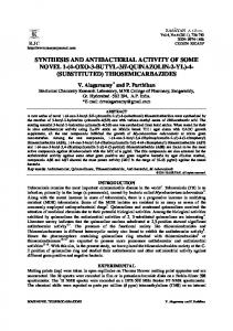 SYNTHESIS AND ANTIBACTERIAL ACTIVITY OF SOME NOVEL 1 ...