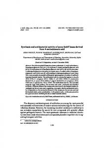 Synthesis and antibacterial activity of some Schiff bases derived from ...
