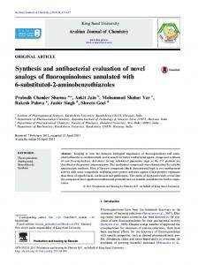 Synthesis and antibacterial evaluation of novel