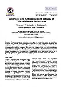 synthesis and anticonvulsant activity of ... - Semantic Scholar