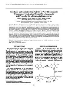 Synthesis and antimicrobial activity of new heterocyclic compounds