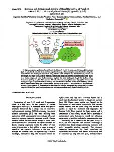 Synthesis and Antimicrobial Activity of Novel ...