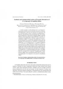 Synthesis and Antimicrobial Activity of Pyrazole Derivatives of 2