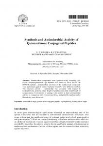 Synthesis and Antimicrobial Activity of Quinazolinone ... - Hindawi