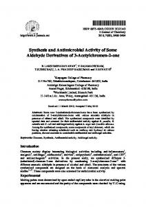 Synthesis and Antimicrobial Activity of Some ...