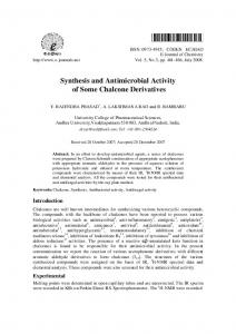 Synthesis and Antimicrobial Activity of Some Chalcone ... - Hindawi