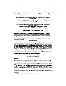 SYNTHESIS AND ANTIMICROBIAL ACTIVITY OF SOME NEW ...