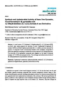 Synthesis and Antimicrobial Activity of Some New Pyrazoles, Fused