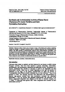 Synthesis and Antimicrobial Activity of Some Novel Chalcones of 3 ...