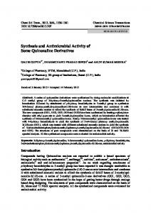 Synthesis and Antimicrobial Activity of Some Quinoxaline Derivatives