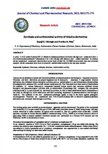 Synthesis and antimicrobial activity of thiazine derivatives - Journal of
