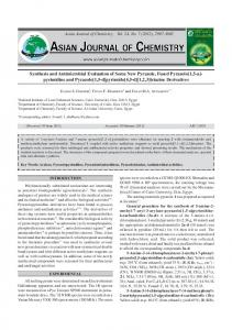 Synthesis and Antimicrobial Evaluation of Some New Pyrazole, Fused