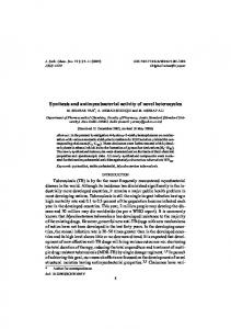 Synthesis and antimycobacterial activity of novel ... - CiteSeerX