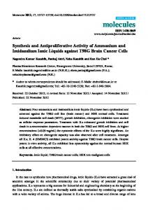 Synthesis and Antiproliferative Activity of Ammonium and ... - CiteSeerX