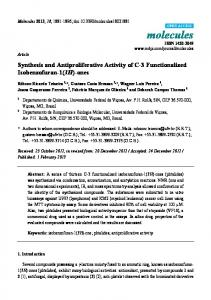 Synthesis and Antiproliferative Activity of C-3 Functionalized ...