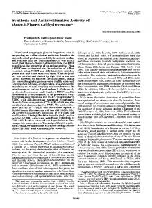 Synthesis and Antiproliferative Activity of three-5-Fluoro-L-dihydroorotate