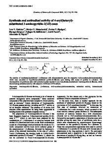 Synthesis and antiradical activity of 4-aryl (hetaryl)-substituted 3 ...