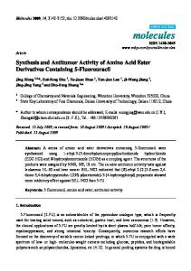 Synthesis and Antitumor Activity of Amino Acid Ester ... - CiteSeerX