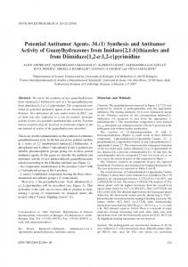 Synthesis and Antitumor Activity of Guanylhydrazones from Imidazo[2 ...