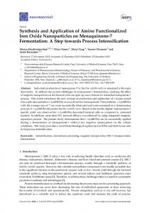 Synthesis and Application of Amine Functionalized Iron Oxide ...