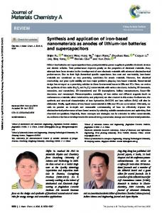 Synthesis and application of iron-based