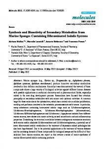 Synthesis and Bioactivity of Secondary Metabolites