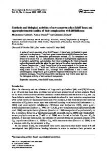 Synthesis and biological activities of new azacrown ether Schiff bases ...