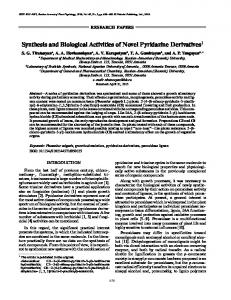 Synthesis and Biological Activities of Novel Pyridazine ... - Springer Link