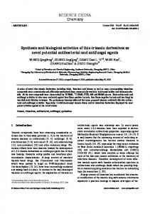 Synthesis and biological activities of thio-triazole derivatives as novel ...