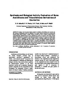 Synthesis and Biological Activity Evaluation of Some