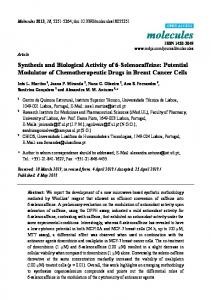 Synthesis and Biological Activity of 6-Selenocaffeine: Potential ... - MDPI