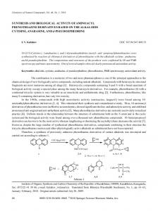 Synthesis and biological activity of aminoacyl phenothiazine ...