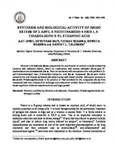 synthesis and biological activity of imido esters of 2-aryl-3 ...