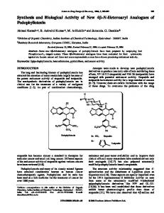 Synthesis and Biological Activity of New 4 -N ...