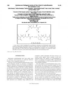 Synthesis and Biological Activity of New Chiral N