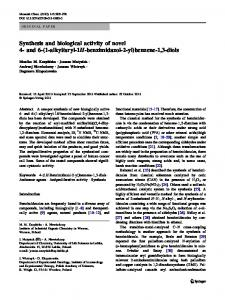 Synthesis and biological activity of novel 4-and 6-(1-alkyl/aryl-1H ...