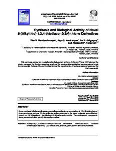 Synthesis and Biological Activity of Novel 5-(Alkylthio)