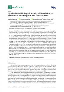 Synthesis and Biological Activity of Novel O-Alkyl Derivatives of ... - MDPI