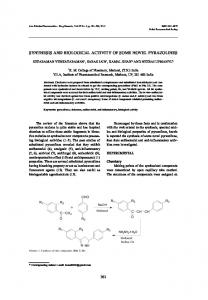 synthesis and biological activity of some novel pyrazolines