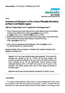 Synthesis and Biological Activity of trans-Tiliroside Derivatives ... - MDPI