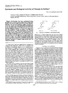 Synthesis and Biological Activity of Vitamin D3