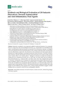 Synthesis and Biological Evaluation of 2H-Indazole Derivatives - MDPI