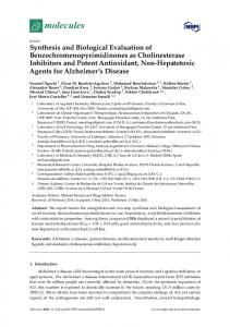 Synthesis and Biological Evaluation of ... - MDPI