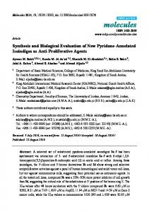 Synthesis and Biological Evaluation of New ... - Semantic Scholar