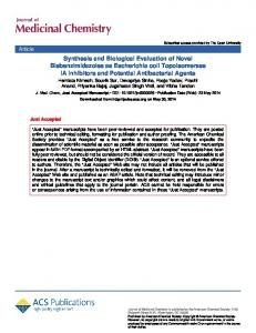 Synthesis and Biological Evaluation of Novel ...
