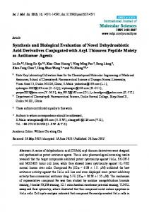 Synthesis and Biological Evaluation of Novel Dehydroabietic Acid
